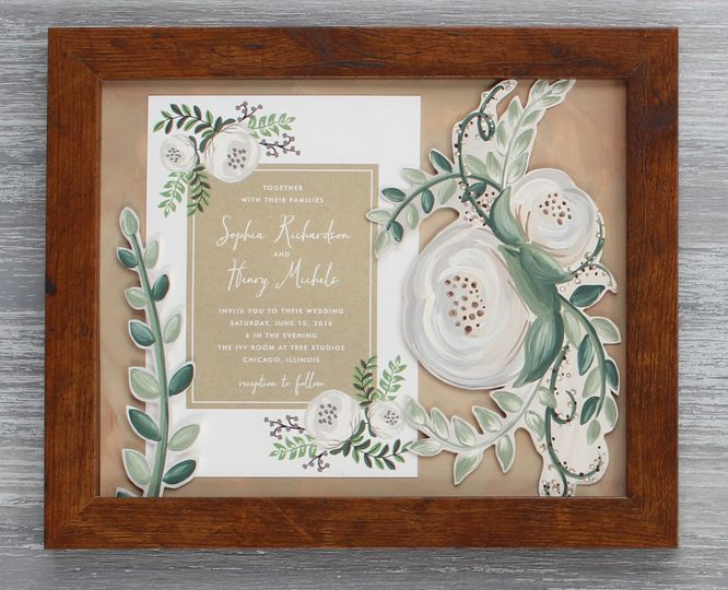 """A perfect wedding gift or first anniversary (the """"paper anniversary"""") gift that is meant to be kept..."""