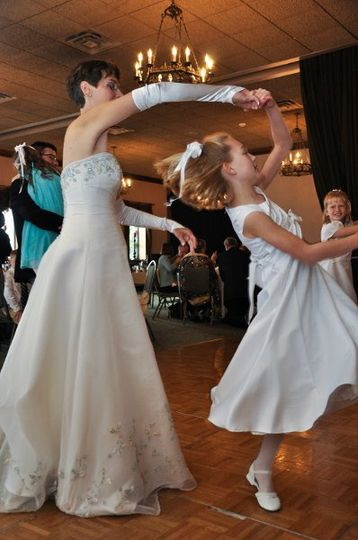 Bride with the kid