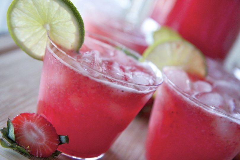 Strawberrry basil mocktails