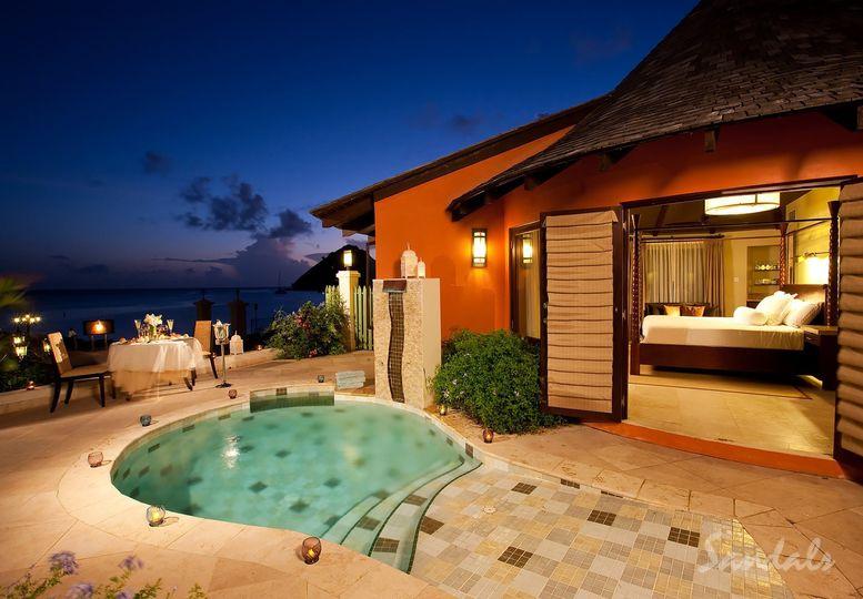 Sandals honeymoon suite