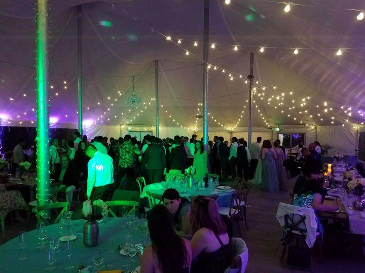 Dancing under the tent