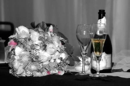 Wedding reception. Black & white style