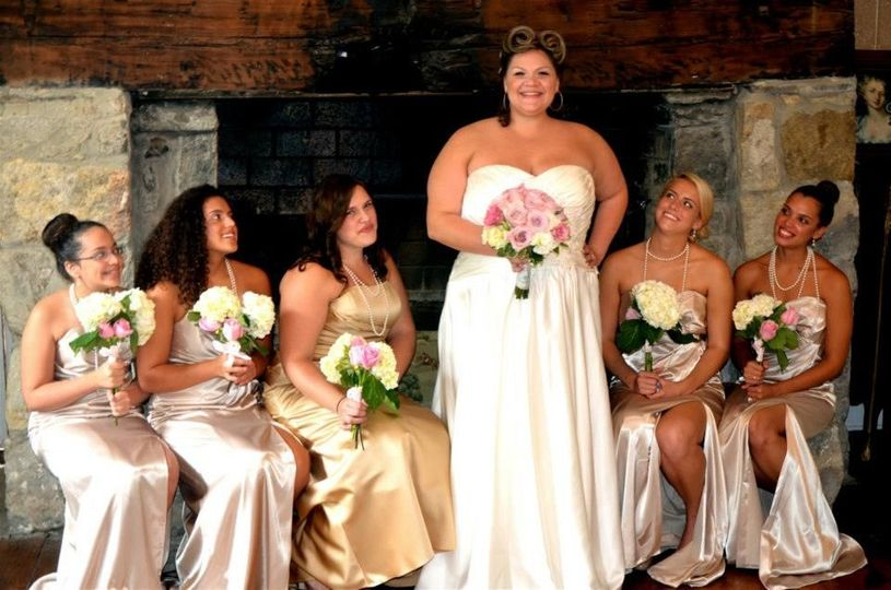 Bride and the bridesmaid