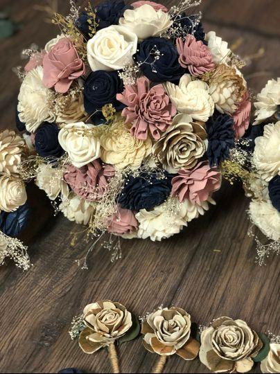 Blush and Navy Bridal