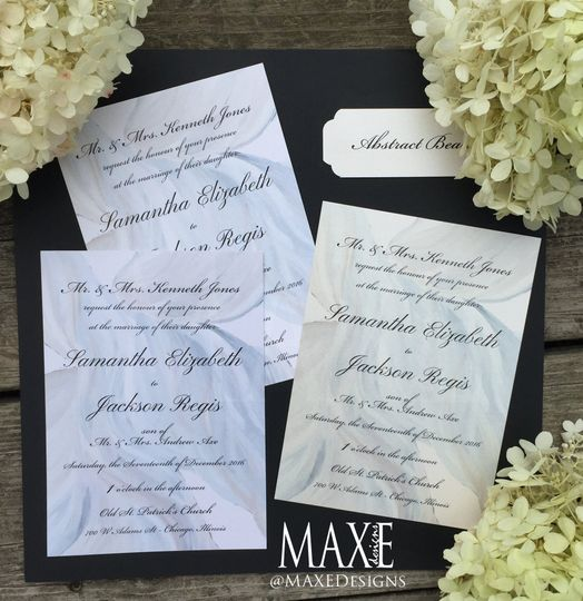 Abstract MAXE Invitations