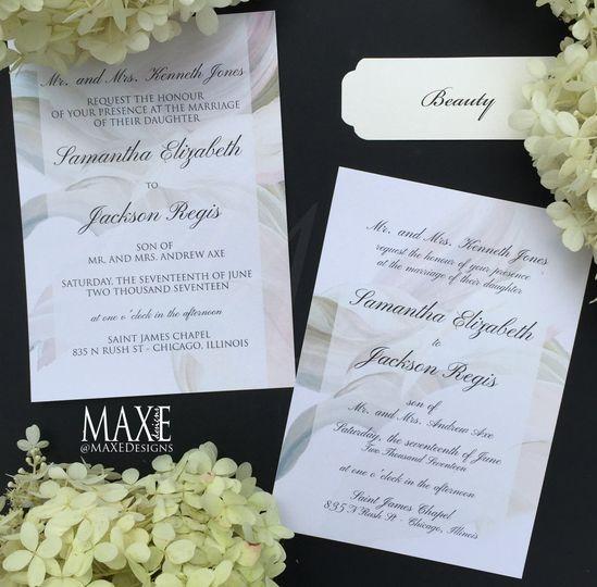 Beauty MAXE Invitations