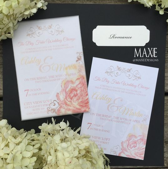 Romance MAXE Invitations