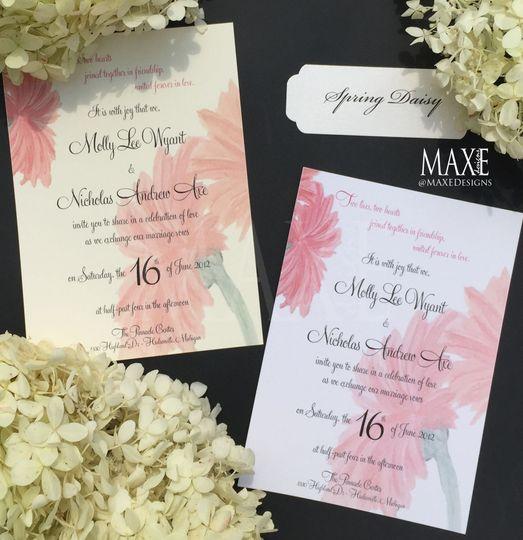 Spring Daisy MAXE Invitations