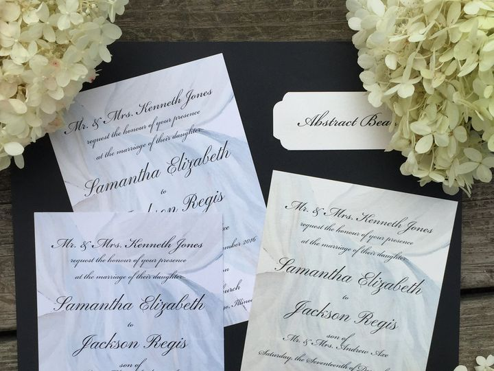 Tmx Abstract Beauty 1 Maxe Designs 51 444523 Chicago, IL wedding invitation