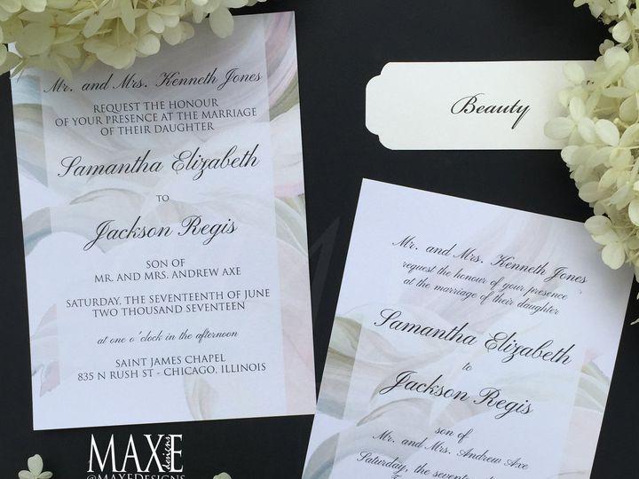 Tmx Beauty 4 Maxe Designs 51 444523 Chicago, IL wedding invitation