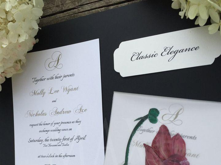 Tmx Classic Elegance 1 Maxe Designs 51 444523 Chicago, IL wedding invitation