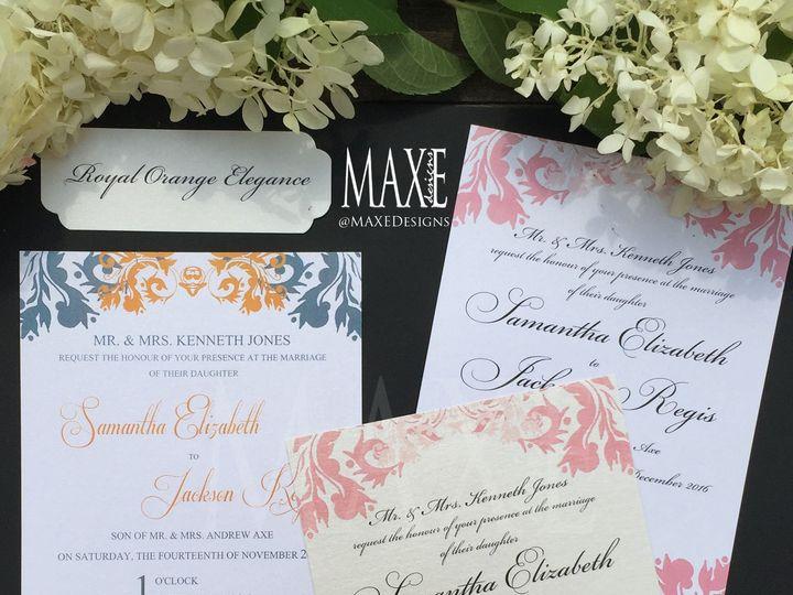 Tmx Royal Elegance 5 Maxe Designs 51 444523 Chicago, IL wedding invitation