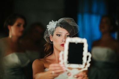 Bride before the wedding ceremony