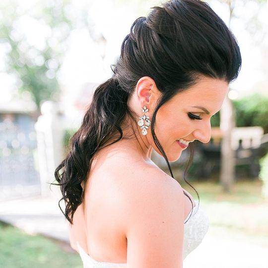 A smiling bride