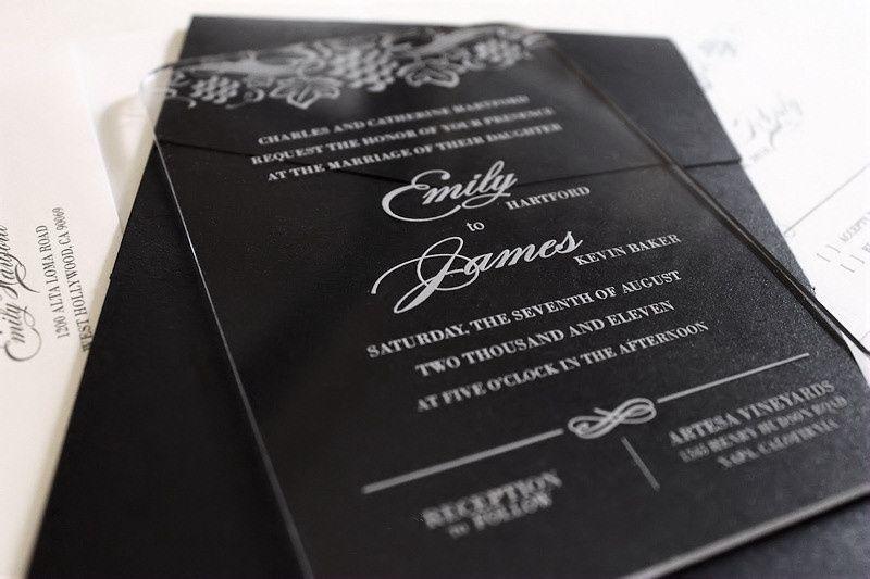 acrylic wedding invitation vin