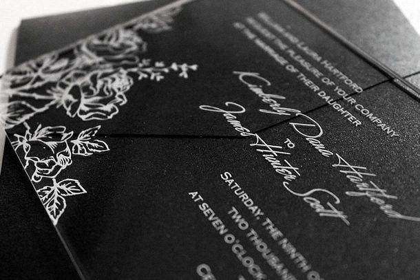 acrylic invitation blossom 2
