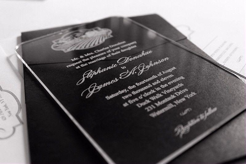 acrylic wedding invitation vineya