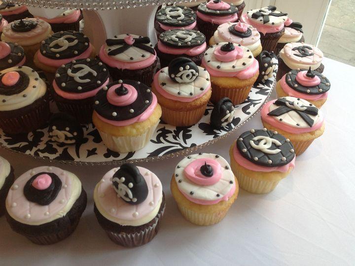 Tmx 1409578249958 Chanel Themed Bridal Shower Cupcakes West Harrison wedding cake