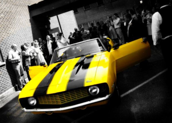 Yellow Camero - the get away car