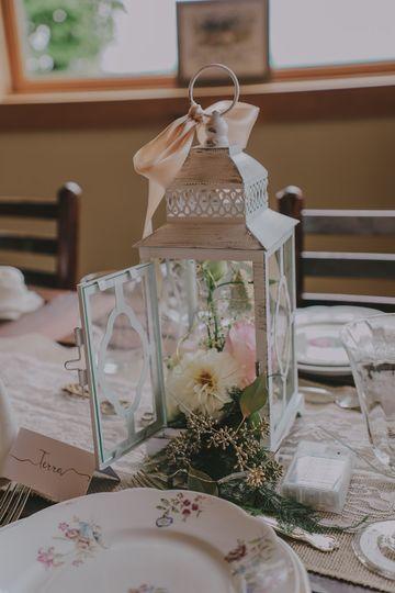 Lantern with fairy lights