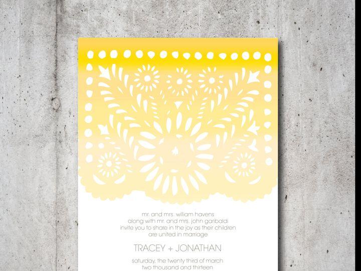 Tmx 1422028391495 Papel Picado Suite Invite Only Chappaqua, NY wedding invitation