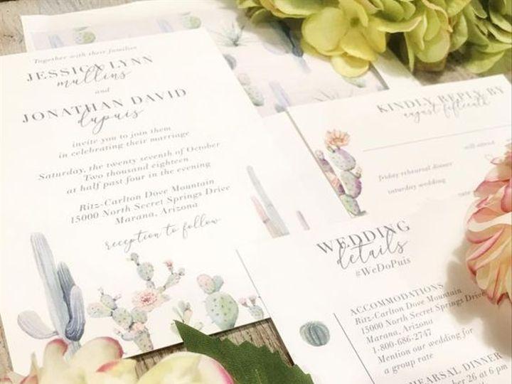 Tmx Cactus Wedding 51 168523 Chappaqua, NY wedding invitation
