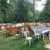 Various chairs at the wedding