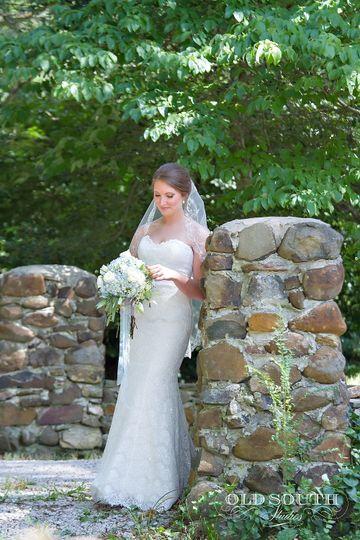 Bride by the bricks