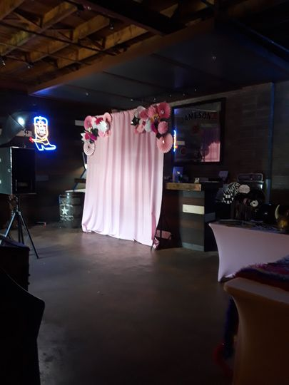 Floral booth setup