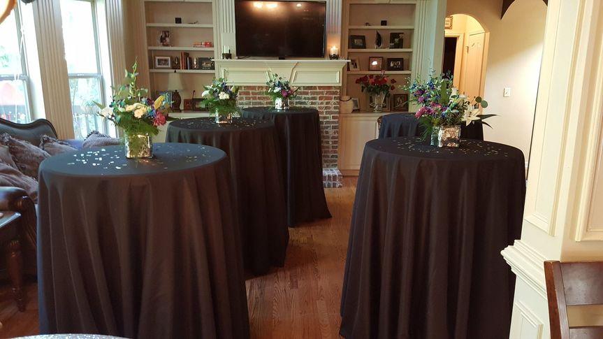 Cocktail reception setup