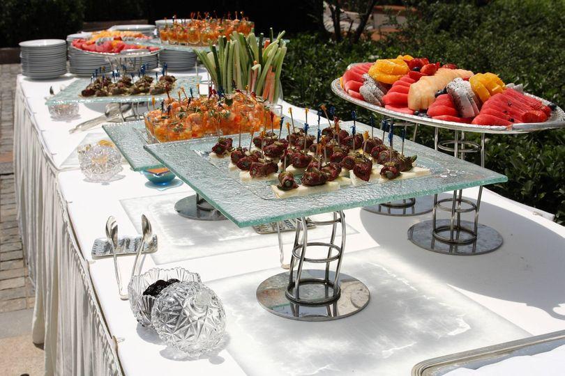 Hors d'oeuvers buffet
