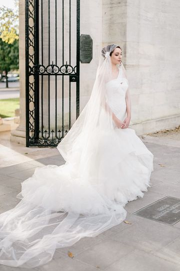 Ballet- inspired bridal gown