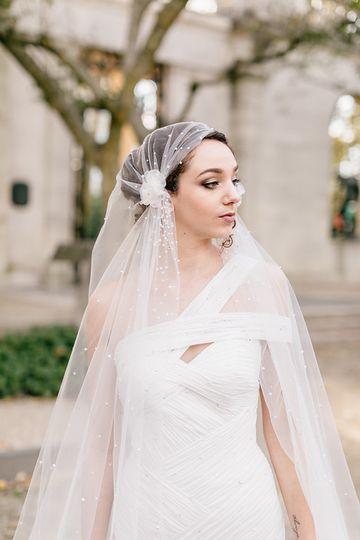 Sara's bridal gown