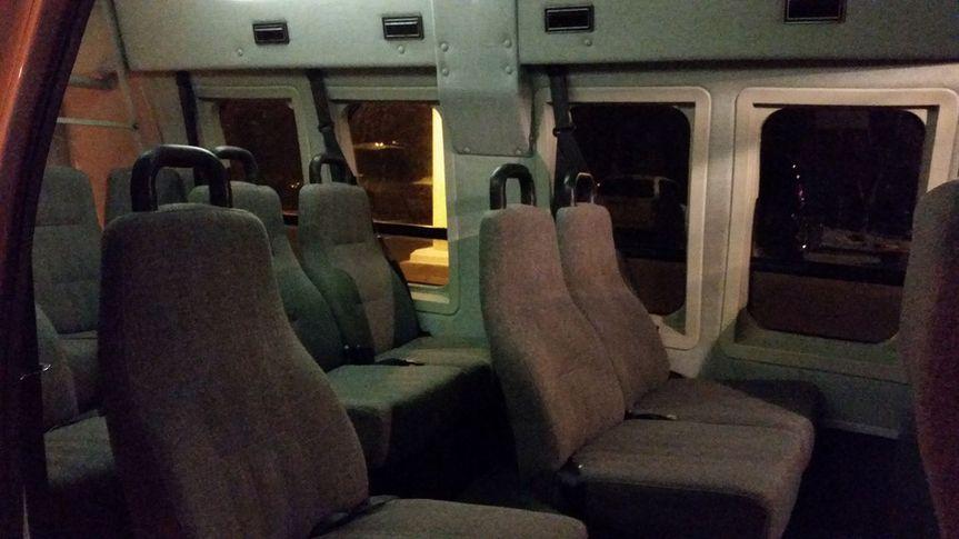 Inside High Top van
