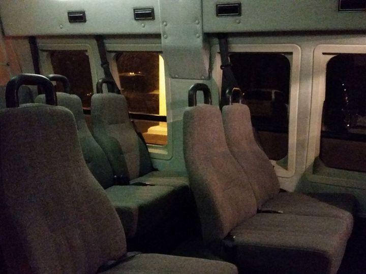 Tmx Inside 11 Passenger High Top Van 51 181623 V1 Lake Geneva wedding transportation