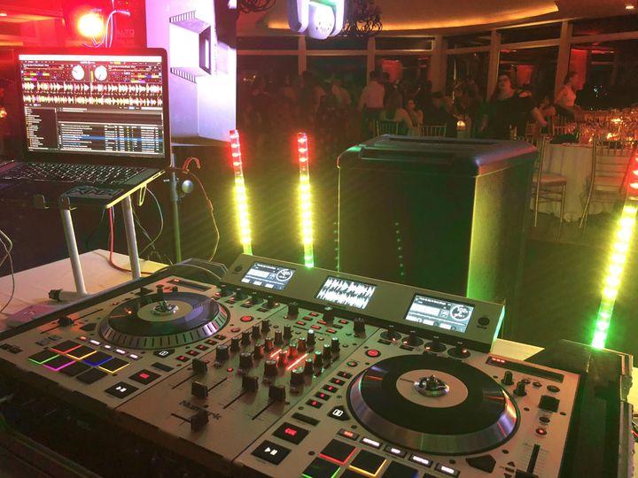 DJ equipment setup