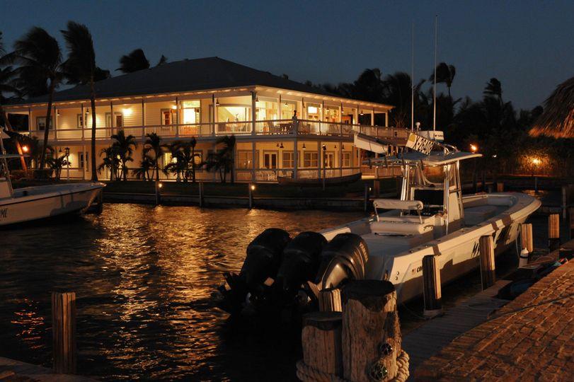 Evening lights at the resort