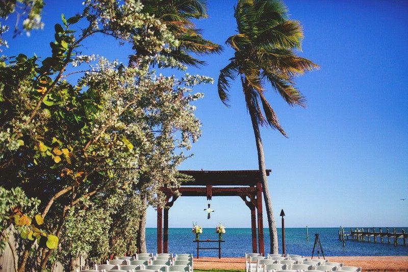 Beach view wedding space