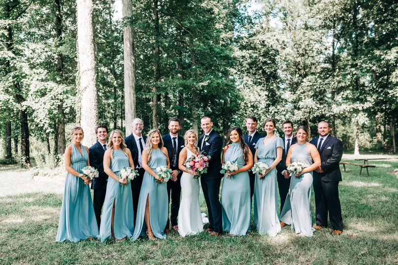 Wedding party portrait - Heather Faulkner Photography