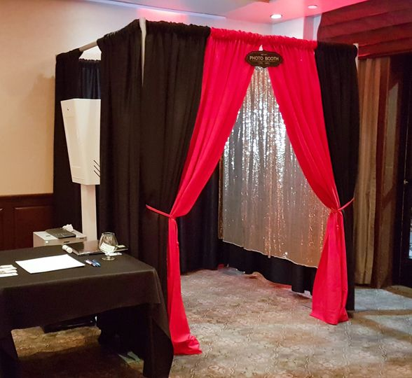 Our black enclosed booth