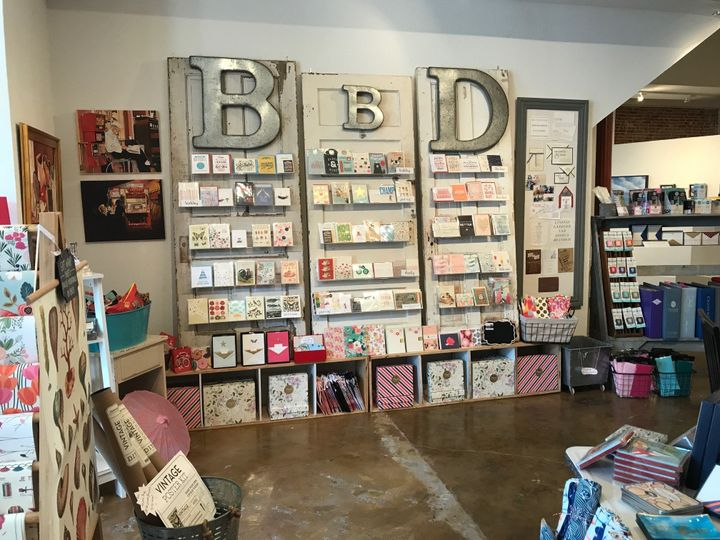 Inside store-greeting cards