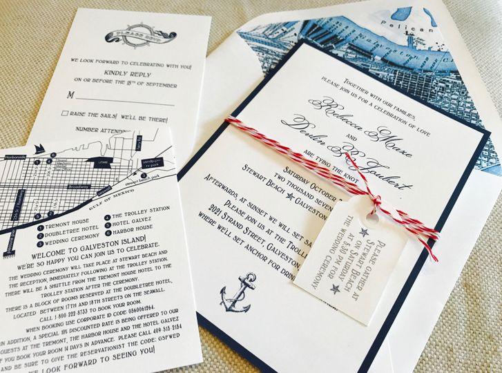 Nautical Invitation suite
