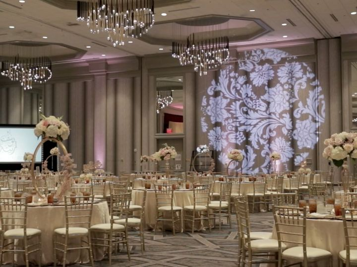 Tmx Zpro Films Renaissance Hotel Dallas Addison Palestinian Couple Muslim Wedding Reception Flowers Decor 2 51 1024623 158010696381950 Allen, TX wedding videography
