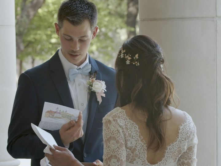 Tmx Zpro Films Robert Carr Chapel Tcu Bride Groom First Look Letters Exchange 51 1024623 158010699091456 Allen, TX wedding videography