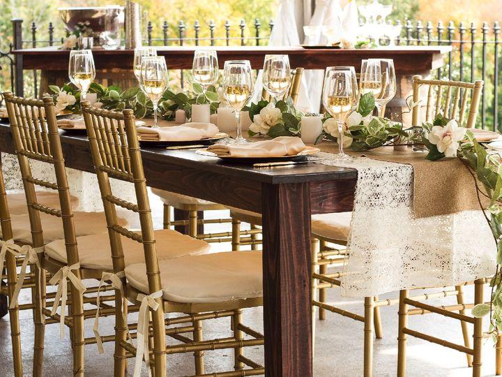 Tmx Tb Gold Chi And Farm Table 51 115623 V1 Akron, OH wedding rental