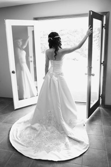 French doors in bridal suite