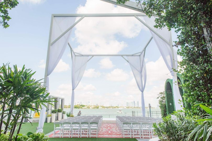 Wedding space setup