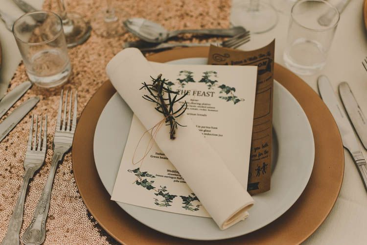 Table setting for a woodland feast