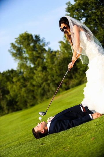 Creative golf shot