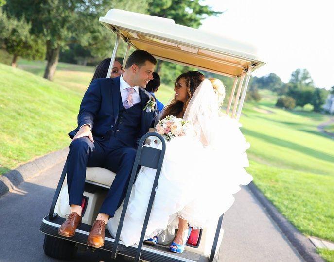 h alami wedding golf cart